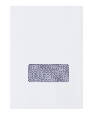 White Tape Seal Window Envelope