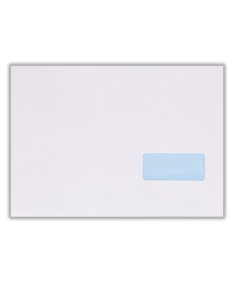 White Self-Seal Invoice Window Envelope