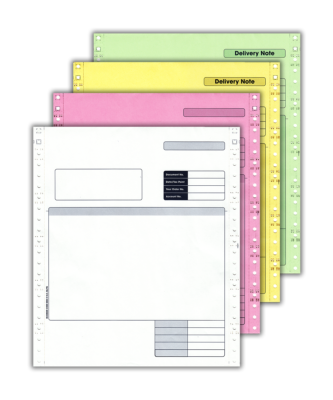 4 Part Continuous Invoice/Delivery Note